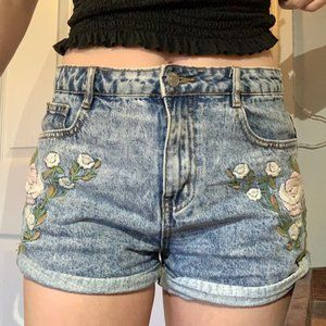 Amazing Embroidered Jean Shorts